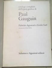 CATALOGO COMPLETO DELL'OPERA GRAFICA DI PAUL GAUGUIN 1972
