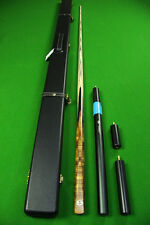 Paragon Series 1 piece Custom Ash Shaft Black Ebony Handmade Snooker Cue Set#J50