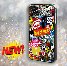 Sticker Bomb  For Samsung,iPhone 4 4S 5 5S 6 6 Plus Hard Case dw1