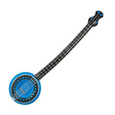 "42"" INFLATABLE BLUE BANJO STRING MUSICAL INSTRUMENT - BLOW UP KIDS FUN PARTY TOY"