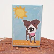 Pit Bull Make Me Smile Art Magnet (GO001MAGMMS) - Free Shipping