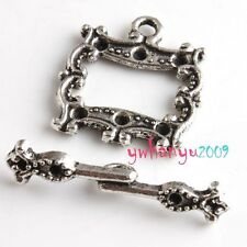 8 Tibet Silver Plated Toggle Clasps Findings Jewelry