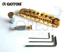 GOTOH guitar bridge 510UB, hard zinc saddle, gold