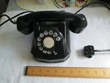 Automatic Electric Model 40 Bakelite Desk Phone - Rotary Dial -  VGC