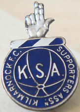 KILMARNOCK FC Rare vintage SUPPORTERS ASSOCIATION Badge Button hole 19mm x 29mm
