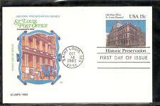 US SC # UX97 St. Louis Post Office FDC. HF Cachet
