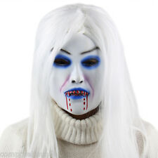 Halloween Horror White Witch Ghost Latex Mask Masquerade Bar Party Supply
