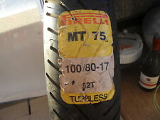 MOTORCYCLE TYRE, N.O.S.  PIRELLI MT75 FRONT TYRE 100-80-17  52T  TUBELESS