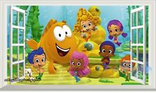 3D Bubble Guppies Window Wall Decals Removable Kid Gift Stickers Art Mural Decor