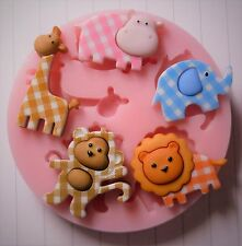 BABY ANIMALS SILICONE MOULD FOR CAKE TOPPERS, CHOCOLATE, CLAY ETC