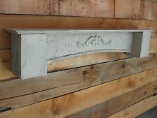 FLOATING WHITE CEDAR WALL SHELF, MANTLE, FRENCH COUNTRY, SHABBY CHIC, DISTRESSED