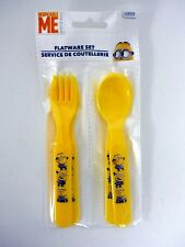 DESPICABLE ME MINIONS FORKS & SPOONS 4 pc Flatware Set for Kids MINION MADE