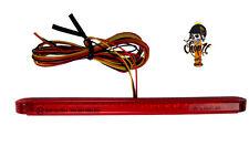 Rotes LED Motorradrücklicht Rücklicht Stripe für Streetfighter Chopper Nakedbike