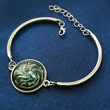 Game of Thrones, Daenerys Targaryen, art picture glass bracelet. Dragon