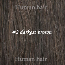 Full Hair pieces All Colors One Piece Clip In Remy 100% Human Hair Extensions