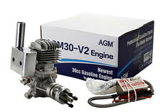 AGM30 30cc Gas Gasoline Engine CDI Muffler For RC Model VS DLE30+2 Year Warranty