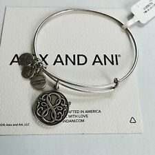 """ALEX AND ANI """"PATH OF LIFE II"""" CHARM BANGLE BRACELET IN RUSSIAN SILVER! NWT!"""