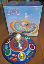VINTAGE UFO SUPER BLOWING BALL SERIES II TIN PLATE SPACE CRAFT TOY 70's BOXED