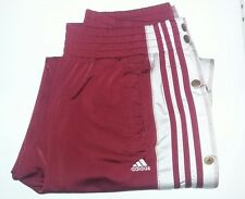 VTG Adidas Classics Track Pants Men's Size Medium M white Striped Breakaway Red!