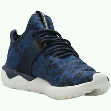 New Mens adidas Originals Tubular Runner Primeknit Shoes 11 Navy Blue S81628