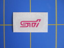 Subaru WRX STi Vinyl Decal - Sticker 0.3x0.8 - Pink- Size in inches, very small