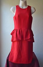Michael Kors 100% Authentic Red Cocktail Dress Women Size 0 MSRP $160