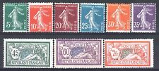 FRANCE ANNEE COMPLETE 1907 YVERT 137 / 145 , 9 TIMBRES NEUFS xx TB/TTB  M882A