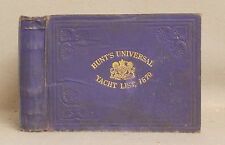 1879 HUNT'S UNIVERSAL YACHT LIST Owner's CLUBS Register sailing club