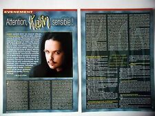 COUPURE DE PRESSE-CLIPPING : KORN [4pages] 05/2002 Jonathan Davis,Munky,Head