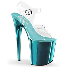 Pleaser Flamingo-808 Shoes Platform Sandals High Heels Ankle Strap Pole Dancing