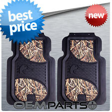 2X DUCKS UNLIMITED FRONT FLOOR MATS CAMOUFLAGE CAMO TRUCK SUV CAR PAIR SET USA