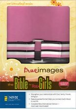 NEW Pink/Brown Leather! NIV True Images Bible for Teen Girls -Zondervan, RTL.$45