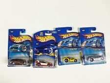 Lot of 4 Hot Wheels Mixed Assorted Carded Cars 2000's 1st edition Curb Side