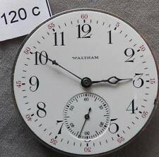 Vintage Waltham 12 Size Movement Only, 17 Jewels, Runs