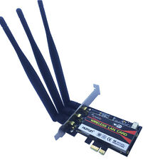 450M PCI-E 1X 16X PC Computer 2.4/5GHz DUAL BAND WIRELESS Desktop WIFI WLAN CARD