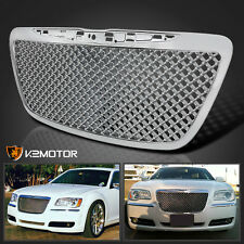 2011-2014 Chrysler 300 300C Chrome Luxury Mesh Front Bumper Hood Grille