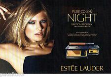 PUBLICITE ADVERTISING 026  2010  Estée Lauder maquillage (2p)Constance Jablonski