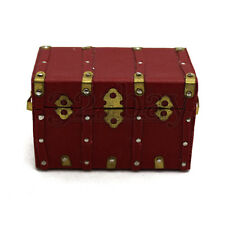 Dollhouse and Miniatures Wooden Chest Trunk Miniature Trunk Miniature Treasure