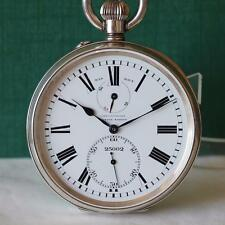 1920's EXTRA SIZE 64mm ULYSSE NARDIN POWER RESERVE 0.925 SILVER POCKET WATCH