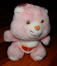 Peluche BISOUNOURS Plush Care Bears Love-a-lot bear GROSCHERI Vintage 18 cm