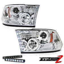 LED LIGHT BAR KIT   09-17 Dodge RAM /3500 LED+Projector Chrome Headlight Lamp