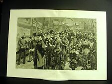 Great Britain ROYAL ACADEMY Art Museum VICTORIAN VISITORS Large Folio Engraving