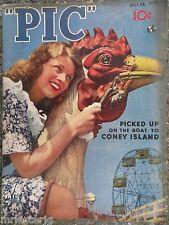 """Rare """"PIC"""" Magazine July 26, 1938  Sam Andre Coney Island Cover"""
