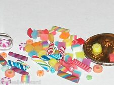 10pc miniature dollhouse barbie size tiny Easter Mix Candy jar rare treats food