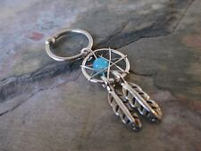 Turquoise Dreamcatcher Cartilage Piercing Captive Ring Tragus Earring 16G 1/2