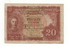 MALAYA 20 CENTS 1941 PICK 9 A LOOK SCANS