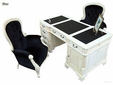 Antique White Office Writing Partners Desk 180cm French Antique Reproduction