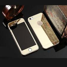 COLOR MIRROR EFFECT FRONT BACK TEMPER GLASS  PROTECTOR FOR IPHONE 6s plus - GOLD