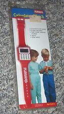 RARE 1989 vintage Playskool Calculator Watch red plastic alarm stopwatch kids