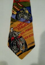 Harley Davidson 1957 Sportster Advertising tie - Mid Century by Huntington